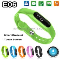 Cheap Waterproof Smart Watch E06 Bluetooth Smart Bracelet Sports Smartwatch for Samsung S4 Note 3 HTC Android iPhone 5 5S 4S Smartphone Drop Ship