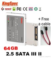Wholesale Hot Kingspec Inch SATA III GB S SATA II SSD GB SSD Disk MLC Solid State Drive Computer Components SSD Free Cable