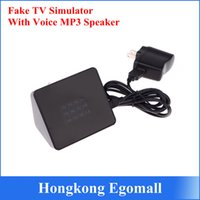 Wholesale 1pcs Fake TV Simulator with Voice MP3 Speaker Function Household LED Light Lamp Changing Lighting Dummy Burglar Deterrent