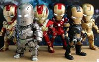 Wholesale Iron Man Eye Light Function Iron Man Mark PVC Action Figure Collectible Model Toy setToys set HRFG294