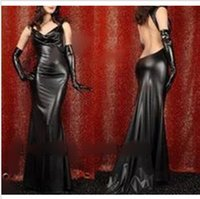 spandex fetish - Sexy Pole Dance Leather Catwomen Dress Women Fetish Bondage Bodysuit Latex Clothing Erotic Black Catsuit Spandex Costumes