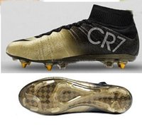 Wholesale Soccer Shoe Ronaldo Gold New Shoe Football Cleats Soccer Boots