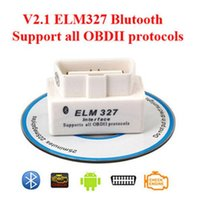 Wholesale 2015 Top Selling SUPER MINI ELM327 Bluetooth OBD2 V2 White Smart Car Diagnostic Interface ELM Wireless Scan Tool