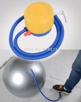 Wholesale Air Bike pump for yoga ball pilates exercise gym fitness balloon inflator Floor Pumps