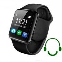 Wholesale Bluetooth Smart Watch WristWatch U8 plus U Watch for Samsung S4 Note Note HTC LG Huawei Xiaomi Android Phone Smartphones Hot