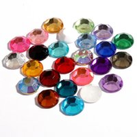 Wholesale 300pcs mm colors Hotfix Artificial Plastic Decorative Crystal Strass Beads Bling Acrylic Flatback Rhinestone Buttons