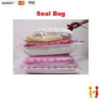 Wholesale 10PCS Compress Space Saving Saver Vacuum Storage Seal Thick Bag Compression x50cm
