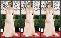 Wholesale 2015 White The st Annual Golden Globe Awards Celebrity Red Carpet Evening Dresses High Neck Beaded Floor Length A Line Chiffon Zipper Back