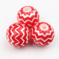 acrylic round ornament - for Christmas Ornaments mm Acrylic Solid Beads Red White Zig Zag Chevron Beads Striped Gumball Beads DIY