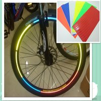 Wholesale High Quality Bicycle Fluorescent Reflective Stickers Bicycle Protective Outdoor Sports Equipment Bicycle Accessories Colors Wheel Rims Ref