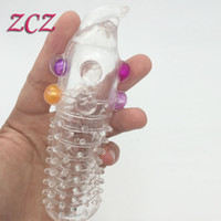 Wholesale Real Photo Penis Extensions Penis Sleeve Adult Sex Toys For Women Crystal Stimulating Penis Extension Sleeve Sex Products SX391