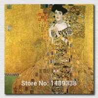 art bauer - Adele Bloch Bauer I by Gustav Klimt canvas art print masterpiece oil painting printing art hang on the home wall A