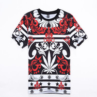 bandana short - Harajuku style Men s Casual Tide Brand T Shirt Bandana Hemp Leaf Printed Short sleeved T shirt Hip Hop Street tops tee shirts