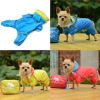 bags apparel - Small Pet Dog Hoodie Jacket Raincoat Waterproof Rain Coat Slicker Jumpsuit Clothes Apparel With Individual Bag