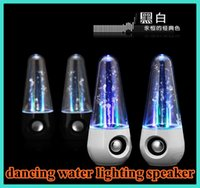 Cheap USB LED Light Laser Tumbler Roly-poly Style Dancing Water Speaker Portable Speaker for iphone 6 PC