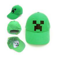 Ball Cap baseball hats - Minecraft JJ Monster Creeper Toy Hat baseball hat Sun hat Peaked Cap Green