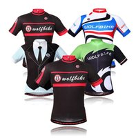 Wholesale WOLFBIKE new short sleeved summer shirt breathable cycling jersey cycling clothing for men and women paragraph BC224
