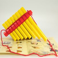 abs plastic pipes - Children s handmade panflute DIY music toys ABS plastic pipes pan flute panpipes musical instrument paternity aids xiao