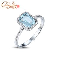 aquamarine and diamond ring - ct Emerald Cut x8mm Blue Aquamarine Pave Diamond k Gold Engagement Ring