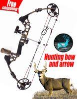 archery - Crazy19 Camo black Bow Set Camouflage and black Compound bow Hunting Compound Bow and Arrow Set China Archery Set arco e flecha