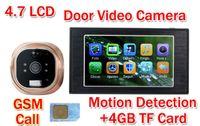 bell calling card - 4 quot LCD GSM Call digital video peephole door camera eye door viewer door bell mirilla puerta Motion detection GB TF Card
