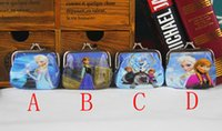 Wholesale Girls D Cartoon Frozen Coin Purse with iron button Anna Elsa Olaf shell bag wallet Purses children child Gifts For Holidays Christmas DHL