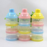 Wholesale NEW Portable Baby Infant Feeding Milk Powder Food Bottle Container Cells Grid Box