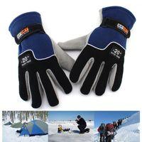 Wholesale Unisex Fleece Gloves Windproof Hands Warmer Winter Outdoor Sport Cycling Motorcycling Ski For Man Woman Gloves hb329
