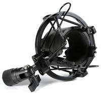 Wholesale SM S Universal Microphone Shock Mount Clip Holder Studio Sound Condenser Microphone Mic Stand Holder Shock Mount Clip Stand