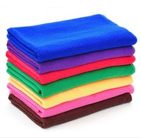 Wholesale 5pcs Softness Strength Microfiber Towel Car Care Cleaning Wash Clean Cloth X70CM TOP12