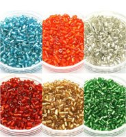 Cheap Wholesale 800pcs(about 25g lot) 2mm Czech Glass Seed tube Spacer beads Jewelry Making DIY Pick 6 Colors F1910