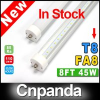 Wholesale In Stock ft FA8 mm T8 Led Tube Lights High Super Bright W Cool White Led Fluorescent Tube AC110 V