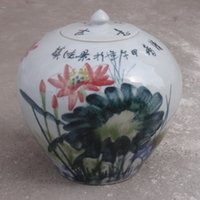 antique tea canister - Jingdezhen Ceramic crafts creative color glaze kiln Antique Tea Caddy Canister round home