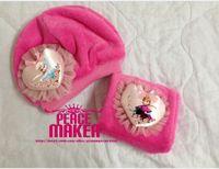 Wholesale Girls christmas gifts rose red scarf hat set scarves cap Anna Elsa Children warm Accessories kids girl hats scarves sets