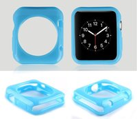 Wholesale 0 mm Jelly Series Glossy Candy TPU Gel Rubber Case Soft Skin Silicone Cover For Apple Watch MM mm For iWatch