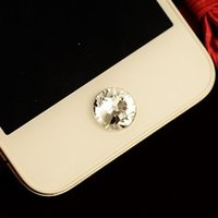 Cheap Wholesale-Min.order is $10(Mix order)Free Shipping White Rhinestone Botton Cell Phone Keypads