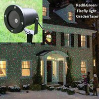 Wholesale Waterproof Outdoor Christmas gift Lights Elf Laser Projector Red Green Moving lights good quality new arrival