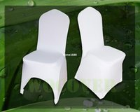 Wholesale 100 White Spandex Chair Cover Wedding Chair Covers for Weddings Party Decorations Banquet Hotel