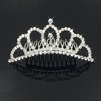 alloy properties - 2015 Hot Sale Baby Headband New Crystal Crown Fashion Bridal Hair Comb Wedding Essential Dish Movies Property Hairstyle