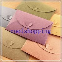 Wholesale DHL Freeshipping A6 colorful paper envelopes with Love buckle Business Photo envelope creative gift envelop size mm