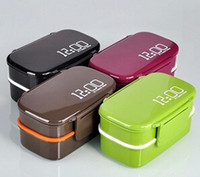 Metal accessories lunch boxes - 4 Colors Layer Japanese Bento Lunch Box Sushi Lunchbox Food Container Kitchen Accessories Tableware Microwave Lunch Box