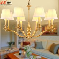 american brass lighting - Brass Chandeliers Brief Pendant Lamps Hanging Lights Contemporary American Style Lights Fixtures Bedroom Hotel Room v
