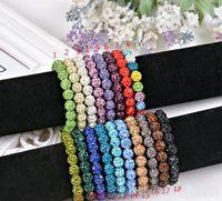 Granos cristalinos de Shamballa Pulseras Macrame la bola de discoteca brillantes pulseras joyería brazalete barato de China Moda pulseras encanto envoltura joyería 15pcs