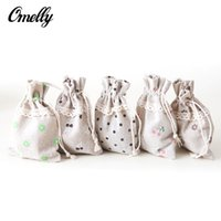 bags in bulk wholesale - Simple Rough Fibre Hemp Small Jewelry Pouches Japanese Style Little Carry Bag Packing Gift Bag for Accessory in Bulk Cheap x9cm