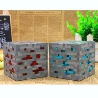 Wholesale Minecraft Diamond Ore Redstone Bluestone Minecraft Creeper LED Night Lights Night Lamp With Retail Box