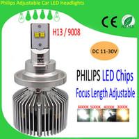 Wholesale 2015 Top Popular Car Bulbs W High Power LED Car Headlights H13 LM Focal Adjustable Auto Head Lights Kit