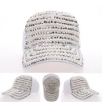 artificial swags - Artificial pearls Front brim covered sports baseball hat hip hop caps hats for women snapback bone swag gorras chapeu mz
