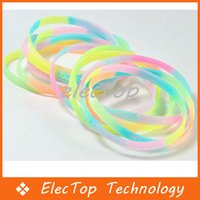 Wholesale Fashion Sports Letter Night Luminous Silicone Rubber Bracelet Fluorescent Color Hand Ring Hair Band