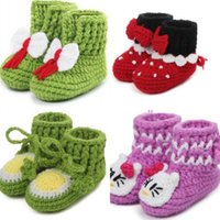 shoe sole material - Lovely Handmade Children s Shoes Baby First Walker Shoes Ankle Boots Woolen Material Anti Skidding Soles Baby Shoes For Months Bab