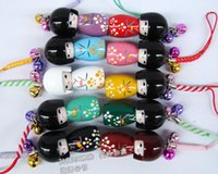 Cheap 10 pcs Cute Japanese kimono doll mobile phone pendant Japanese puppet decorative pendant small pendant